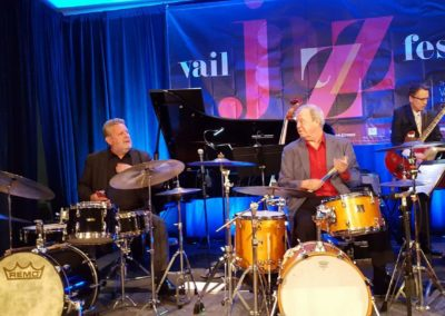 Butch Miles in Vail with Jeff Hamilton
