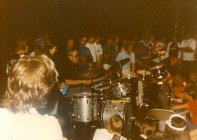 Drum battle with Joe Morello, 1983